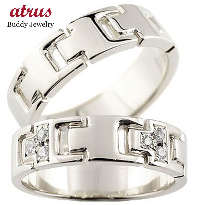 シンプルなのに印象的 オリジナル ペアリング ペアリング 結婚指輪 プラチナ ダイヤモンド マリッジリング ダイヤ シンプル 結婚式 pt900 人気 ストレート カップル 贈り物 誕生日プレゼント ギフト ファッション パートナー 送料無料