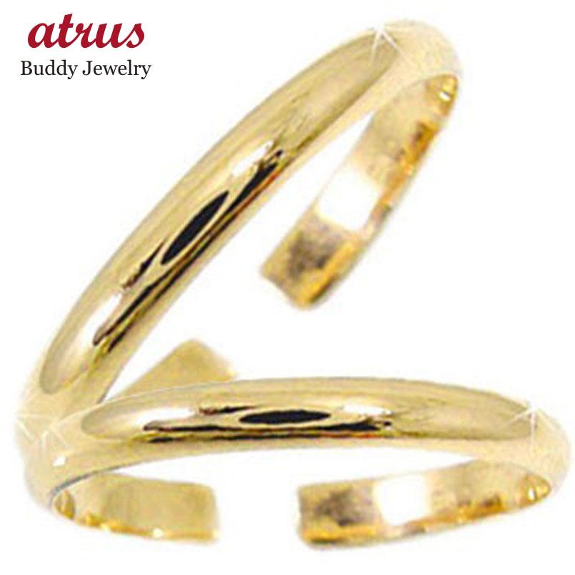 スイートハグリング ペアリング 結婚指輪 マリッジリング イエローゴールドk18 フリーサイズリング 指輪 ハンドメイド 結婚式 18金 ストレート カップル 2.3