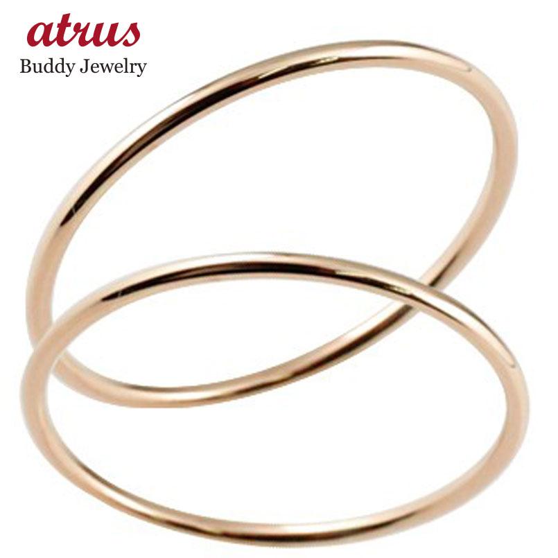 ペアリング 結婚指輪 マリッジリング ピンクゴールドk18 結婚式 18金 地金 ストレート 華奢 極細 スイートペアリィー カップル 贈り物 誕生日プレゼント ギフト ファッション パートナー 送料無料