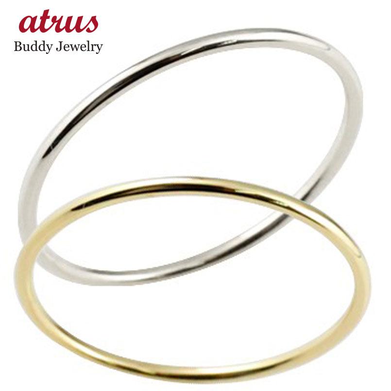 ペアリング 結婚指輪 マリッジリング イエローゴールドk18 ホワイトゴールドk18 結婚式 18金 地金 ストレート 華奢 極細 スイートペアリィー カップル 贈り物 誕生日プレゼント ギフト ファッション パートナー 送料無料