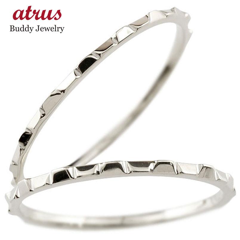 結婚指輪 ペアリング マリッジリング 地金リング ホワイトゴールドk18 18金 極細 華奢 結婚式 ストレート スイートペアリィー カップル 贈り物 誕生日プレゼント ギフト ファッション