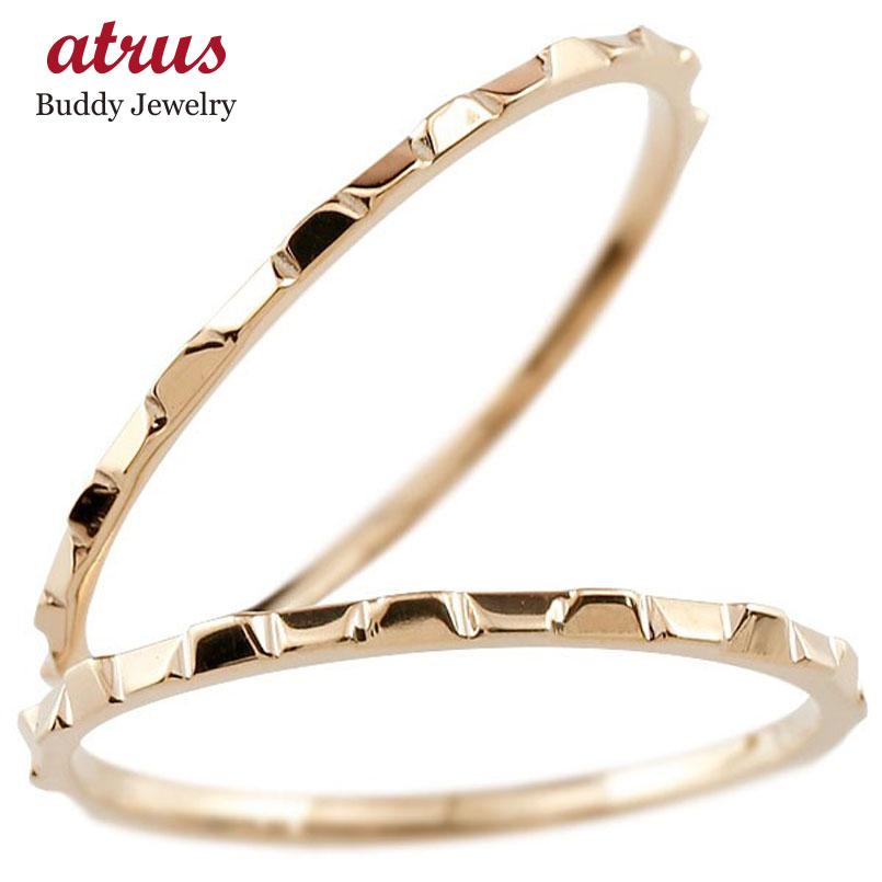 結婚指輪 ペアリング マリッジリング 地金リング ピンクゴールドk10 10金 極細 華奢 結婚式 ストレート スイートペアリィー カップル 贈り物 誕生日プレゼント ギフト ファッション パートナー 送料無料