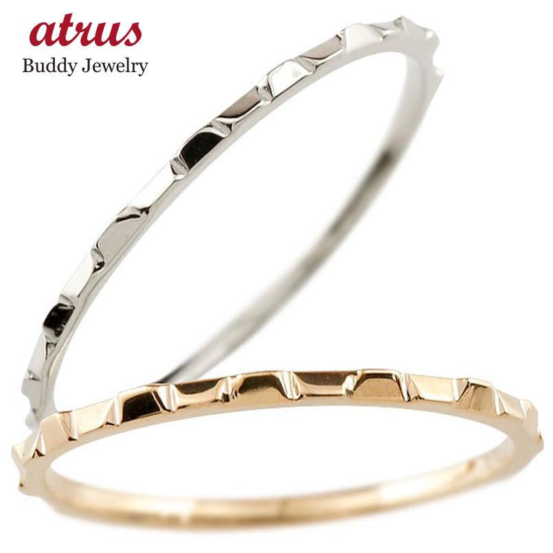 結婚指輪 ペアリング マリッジリング 地金リング ピンクゴールドk18 ホワイトゴールドk18 18金 極細 華奢 結婚式 ストレート スイートペアリィー カップル 贈り物 誕生日プレゼント ギフト ファッション パートナー 送料無料