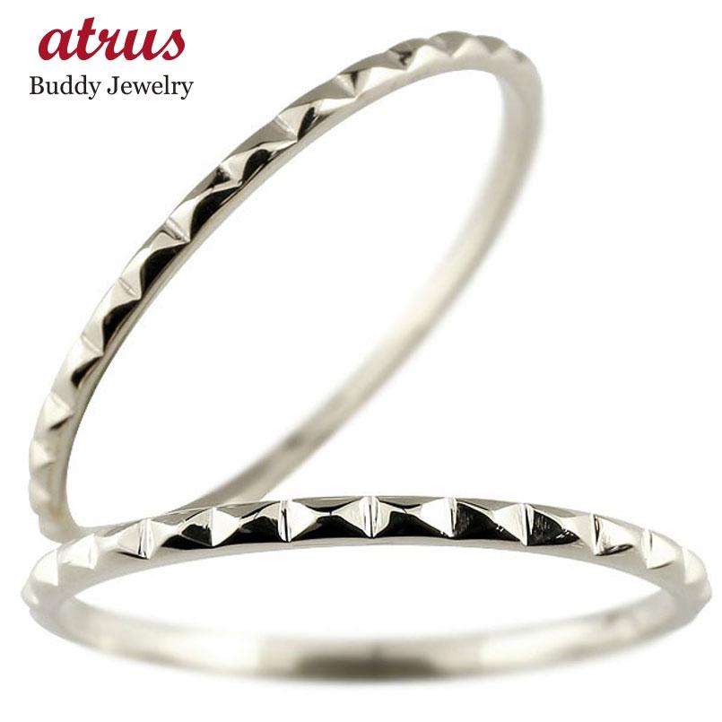 結婚指輪 ペアリング マリッジリング 地金リング ホワイトゴールドk10 10金 極細 華奢 結婚式 ストレート スイートペアリィー カップル 贈り物 誕生日プレゼント ギフト ファッション