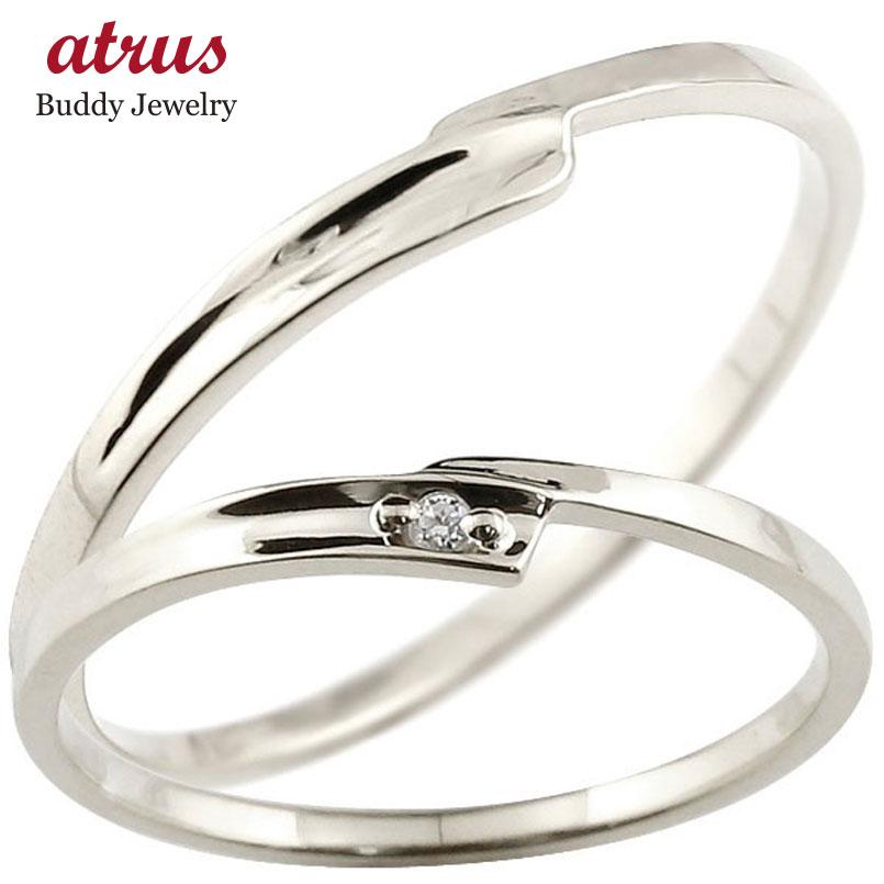 結婚指輪 ペアリング マリッジリング ダイヤモンド ホワイトゴールドk10 ダイヤ 10金 極細 華奢 スパイラル 結婚式 スイートペアリィー カップル 贈り物 誕生日プレゼント ギフト ファッション パートナー 送料無料