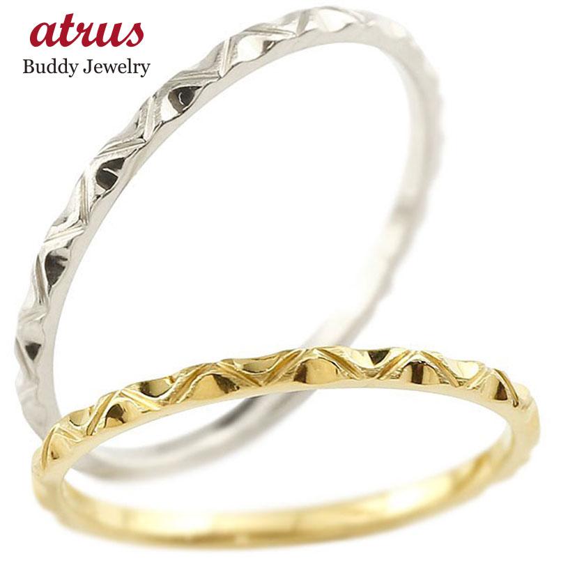 結婚指輪 ペアリング マリッジリング イエローゴールドk10 ホワイトゴールドk10 k10wg 極細 華奢 アンティーク 結婚式 ストレート 10金 スイートペアリィー カップル 贈り物 誕生日プレゼント ギフト ファッション パートナー 送料無料