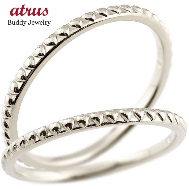 結婚指輪 ペアリング マリッジリング ハート ホワイトゴールドk18 極細 華奢 アンティーク 18金 結婚式 ストレート スイートペアリィー カップル 贈り物 誕生日プレゼント ギフト ファッション パートナー 送料無料