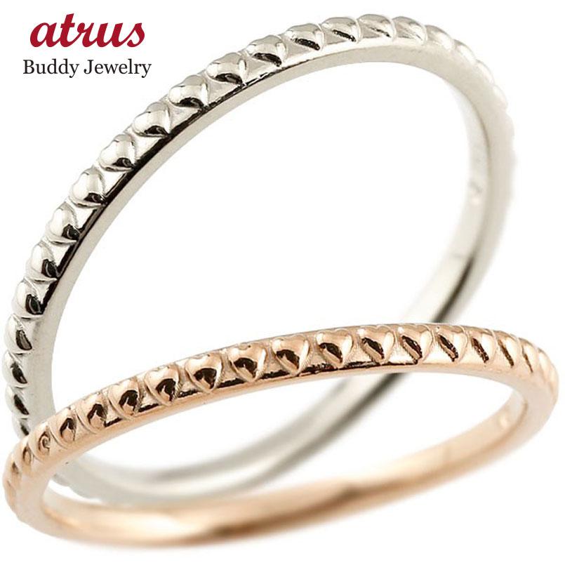 結婚指輪 ペアリング マリッジリング ハート ピンクゴールドk18 ホワイトゴールドk18 極細 華奢 アンティーク 18金 結婚式 ストレート スイートペアリィー カップル 贈り物 誕生日プレゼント ギフト ファッション パートナー 送料無料