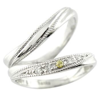 結婚指輪 ペアリング マリッジリング ダイヤモンド ペリドット プラチナ ミル打ち 結婚式 ダイヤ カップル 贈り物 誕生日プレゼント ギフト ファッション パートナー 送料無料
