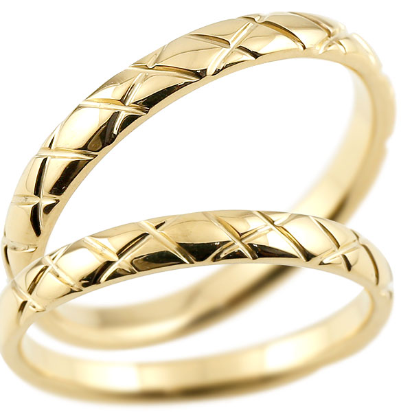 結婚指輪 ペアリング マリッジリング イエローゴールドk18 k18 アンティーク 結婚式 ストレート 18金 地金リング カップル ファッション パートナー 送料無料