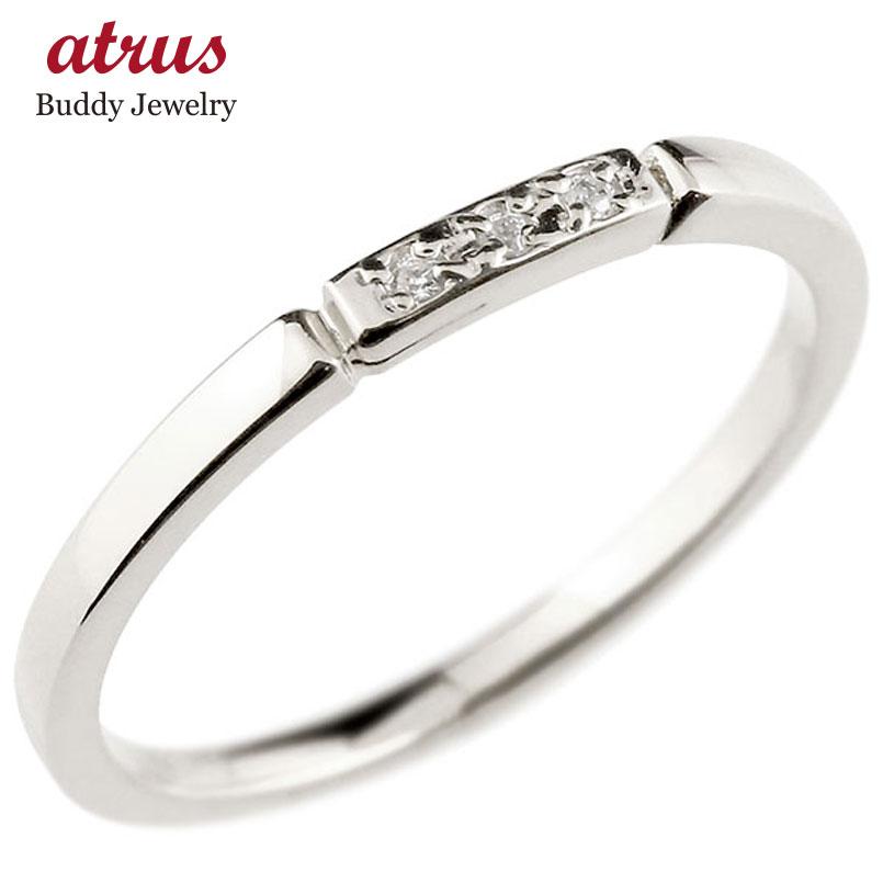 【送料無料】ピンキーリング ダイヤモンド ホワイトゴールドk10 結び エンゲージリング リング 10金 華奢 ストレート ダイヤ 指輪 ファッション 妻 嫁 奥さん 女性 彼女 娘 母 祖母 パートナー