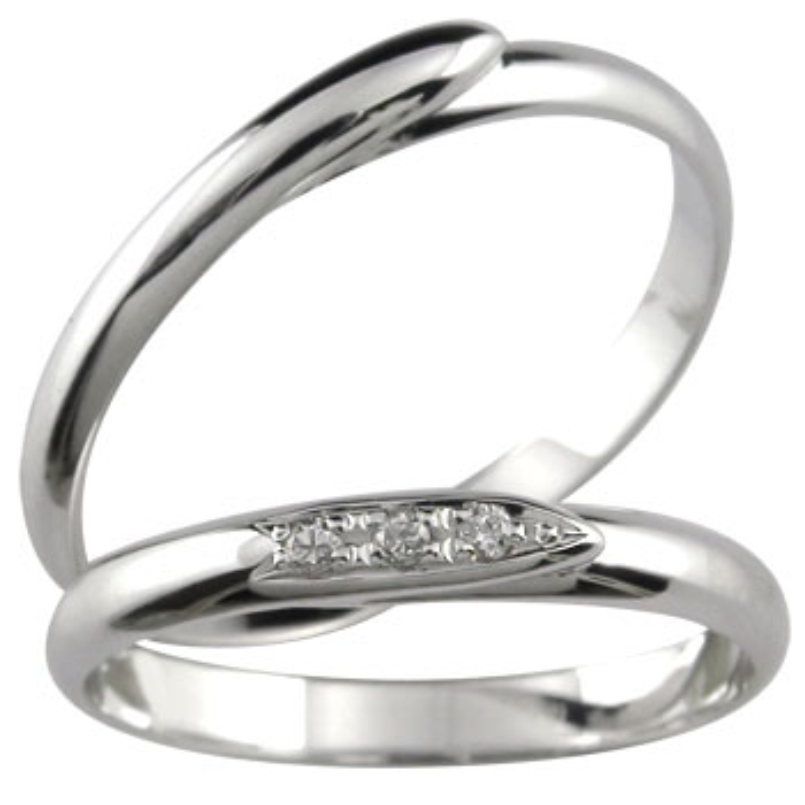 ペアリング ダイヤモンド 結婚指輪 マリッジリング ホワイトゴールドk10 10金 ダイヤ ストレート カップル 2.3 プレゼント 女性 送料無料