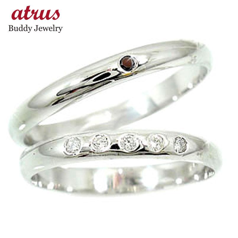 結婚指輪 【送料無料】 マリッジリング ペアリング ダイヤモンド ブラックダイヤモンド ホワイトゴールドk10 10金 ダイヤ ストレート カップル 贈り物 誕生日プレゼント ギフト ファッション パートナー