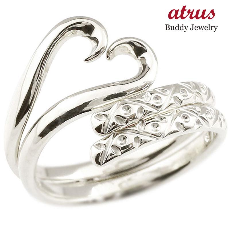 結婚指輪 スイートハグリング ペアリング プラチナ マリッジリング ハート フリーサイズリング 指輪 ハンドメイド 結婚式 贈り物 誕生日プレゼント ギフト ファッション パートナー 送料無料