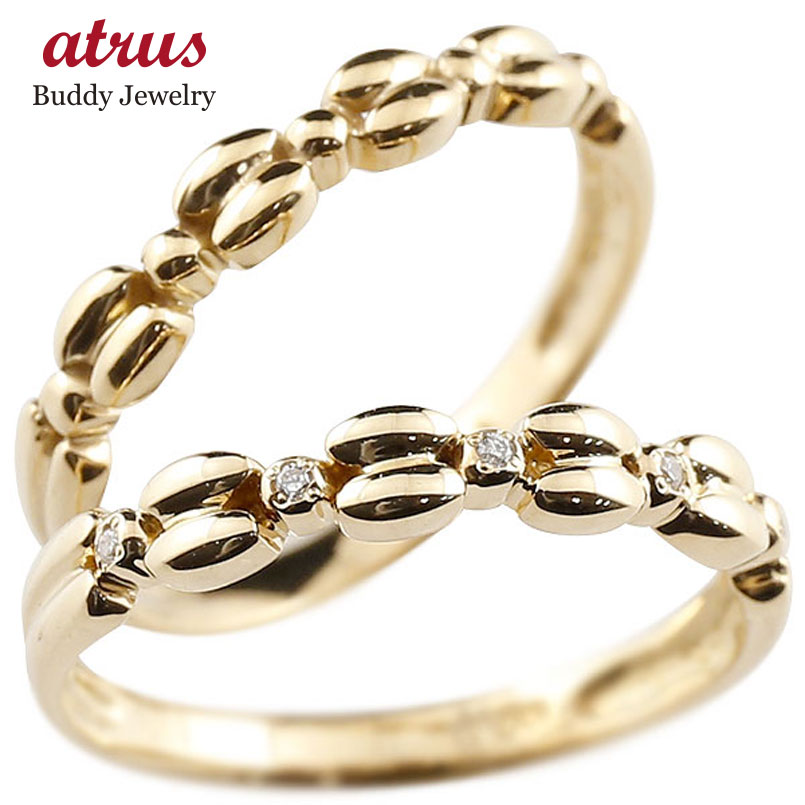 結婚指輪 ペアリング イエローゴールドk10リング ダイヤモンド シンプル 指輪 華奢リング 重ね付け 指輪 細め 細身 k10 アンティーク レディース 贈り物 誕生日プレゼント ギフト ファッション お返し パートナー 送料無料