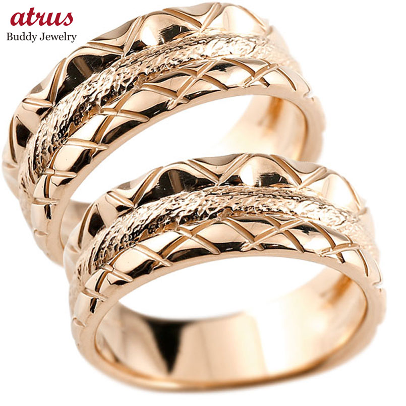 結婚指輪 ペアリング マリッジリング ピンクゴールドk18 結婚式 ストレート カップル 地金リング 18金 贈り物 誕生日プレゼント ギフト ファッション パートナー 送料無料