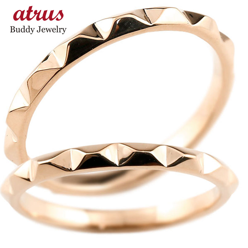 結婚指輪 ペアリング マリッジリング ピンクゴールドk18 ストレート カップル 18金 宝石なし 地金 メンズ レディース 贈り物 誕生日プレゼント ギフト ファッション エンゲージリングのお返し パートナー