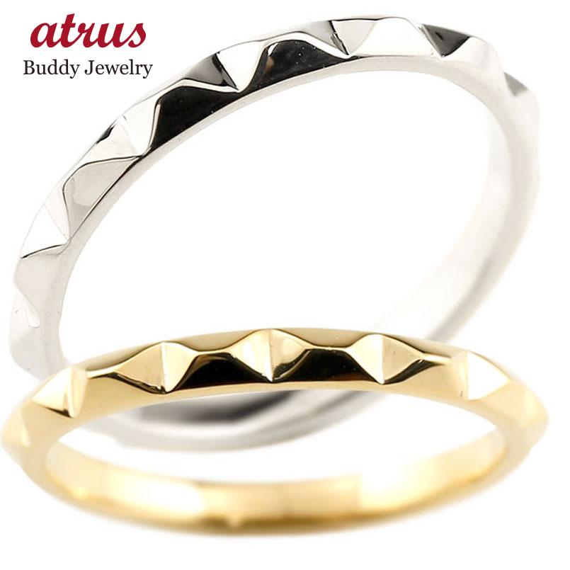 結婚指輪 ペアリング マリッジリング プラチナ イエローゴールドk18 ストレート カップル pt900 18金 宝石なし 地金 メンズ レディース 贈り物 誕生日プレゼント ギフト ファッション エンゲージリングのお返し パートナー