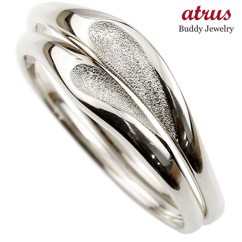 結婚指輪 ペアリング プラチナ マリッジリング ハート シンプル つや消し pt900 ストレート スイートペアリィー カップル ファッション パートナー