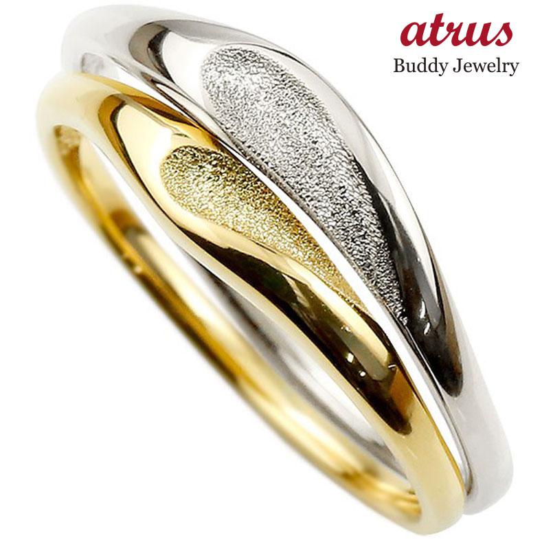 結婚指輪 ペアリング マリッジリング ハート プラチナ イエローゴールドk18 つや消し pt900 18金 ストレート スイートペアリィー ファッション パートナー
