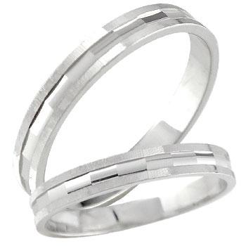 結婚指輪 結婚指輪 プラチナ ペアリング 人気 マリッジリング カットリング ダイヤモンドカット ダイヤ ストレート カップル 送料無料