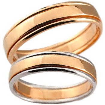 結婚指輪 訳ありセール 格安 指輪 リング マリッジ 結婚 コンビ ペアリング プラチナ 18金 人気 マリッジリング 宝石なし 結婚式 ストレート ピンクゴールドk18 地金リング カップル 新入荷 流行 の 送料無料 女性 2個セット