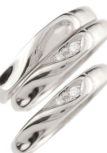 結婚指輪 ペアリング マリッジリング 結婚指輪 プラチナ ダイヤモンド ハート 結婚式 pt900 ダイヤ トラスリング ストレート 3本セット 送料無料