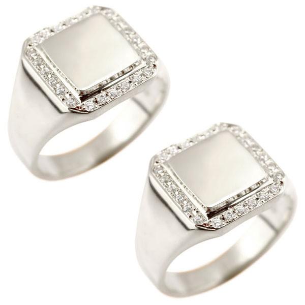 【新品】 ペアリング プラチナ 結婚指輪 pt900 ダイヤモンド 印台 指輪 男性用 ダイヤ トラスト プレゼント 女性 送料無料 の 2個セット LGBTQ 男女兼用, 輸入酒のかめや f118c308