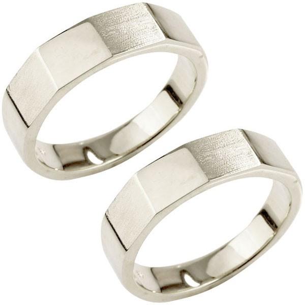 結婚指輪 メンズ ペアリング プラチナ pt900 つや消し 印台 指輪 男性用 地金リング トラスト プレゼント 女性 送料無料
