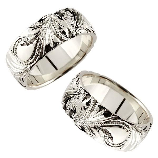 ハワイアンジュエリー 結婚指輪 メンズ ペアリング ハワイアン プラチナ pt900 スクロール 波 マイレ 葉 指輪 男性用 宝石なし トラスト プレゼント 女性
