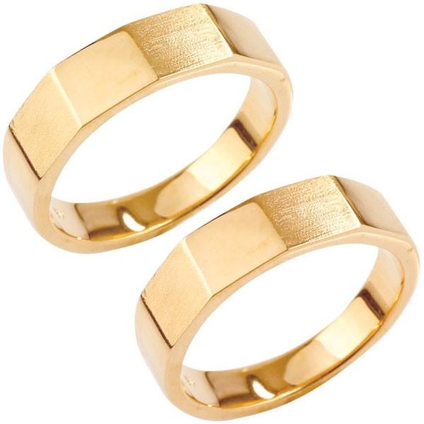 【翌日発送可能】 ペアリング 18金 結婚指輪 つや消し 印台 指輪 ピンクゴールドk18 男性用 リング 地金リング トラスト プレゼント 女性 送料無料 の 2個セット LGBTQ 男女兼用, 緒方町 b7484069