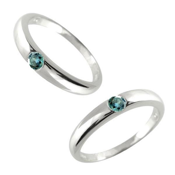 メンズジュエリー ペアリング プラチナ900 ブルーダイヤモンド 結婚指輪 メンズ ペアリング プラチナ pt900 ブルーダイヤモンド 一粒 指輪 男性用 ダイヤリング トラスト プレゼント 女性 送料無料