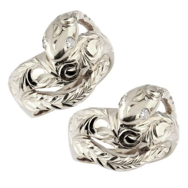 ハワイアンジュエリー メンズ ペアリング ハワイアン 蛇 シルバー リング ダイヤモンド ダイヤ スネーク 指輪 男性用 トラスト プレゼント 女性 送料無料