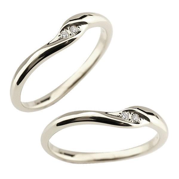 結婚指輪 レディース ペアリング マリッジリング 結婚指輪 ダイヤモンド プラチナ ダイヤ ストレート トラスト プレゼント 女性 送料無料