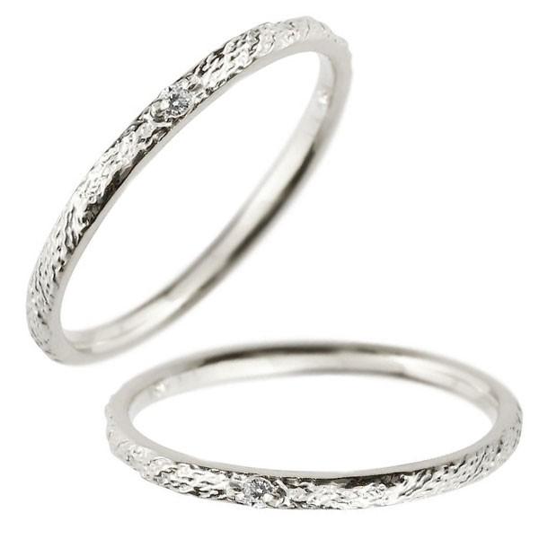レディース ペアリング マリッジリング 結婚指輪 一粒 ダイヤモンド ホワイトゴールドk18 ダイヤ 18金 トラスト プレゼント 女性 送料無料
