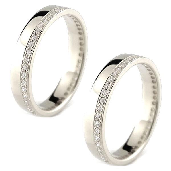 結婚指輪 レディース ペアリング マリッジリング 結婚指輪 ダイヤモンド エタニティ フルエタニティ ハードプラチナ950 ダイヤ トラスト 送料無料