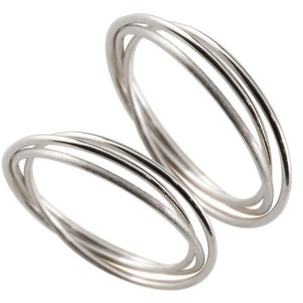 結婚指輪 ペアリング プラチナ900 指輪 華奢 重ね付け3連 地金リング 宝石なし プラチナ ストレート プレゼント 女性 送料無料