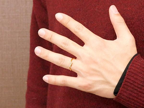 ペアリング イエローゴールドk10 ダイヤモンド スイートペアリィー 結び 結婚指輪 マリッジリング リング 10金 華奢 ストレートプレゼント 女性 送料無料80kXwOPNn