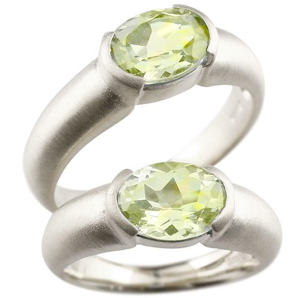 結婚指輪 ペアリング プラチナ 大粒 一粒 ペリドット リング 結婚指輪 マリッジリング pt900 指輪 プレゼント 女性 送料無料