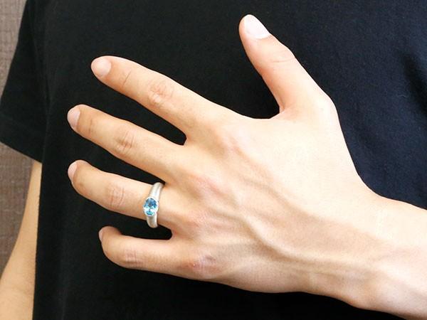 ペアリング ホワイトゴールドk10 大粒 一粒 ブルートパーズ リング 結婚指輪 マリッジリング 10金 指輪プレゼント 女性 送料無料cF1lKJ