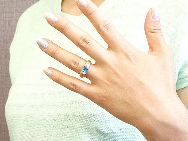 ペアリング ホワイトゴールドk18 イエローゴールドk18 大粒 一粒 ブルートパーズ リング 結婚指輪 マリッジリング 指輪 18金プレゼント 女性 送料無料0OZwPkN8nX