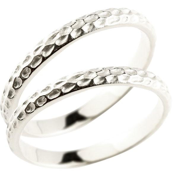 シンプルなのに印象的 槌打リング ペアリング プラチナ 2本セット 結婚指輪 槌目 槌打ち 指輪 pt900 マリッジリング プレゼント 大好評です 重ね付け 地金 の 女性 新作 2個セット 送料無料 ストレート