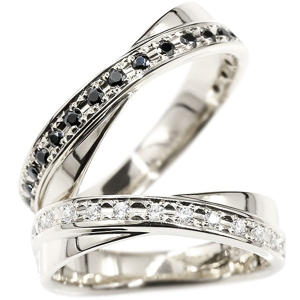 結婚指輪 婚約指輪 ペアリング プラチナ 指輪 ダイヤモンド ブラックダイヤモンド pt900 宝石 ダイヤ 結婚指輪 マリッジリング リング カップル 送料無料