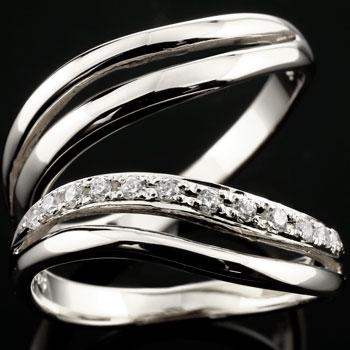 結婚指輪 ペアリング プラチナ ダイヤモンド ダイヤ 結婚指輪 ハーフエタニティ マリッジリング 結婚式 カップル プレゼント 女性 送料無料