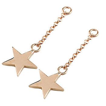 2個 パーツ ピアス用 イヤリング用 星 ピンクゴールドk18 シンプル レディース 地金 宝石