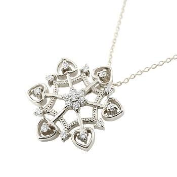 雪の結晶 プラチナ ネックレス ダイヤモンド ペンダント ダイヤ スノーモチーフ アンティーク レディース チェーン 人気 贈り物 誕生日プレゼント ギフト ファッション お返し