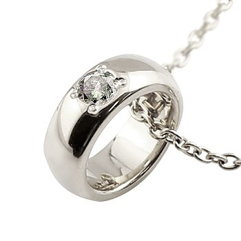 ベビーリング ダイヤモンド ペンダント ネックレス 一粒 プラチナ プラチナペンダント ダイヤ ストレート 甲丸 レディース 送料無料