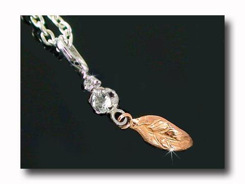 アクアマリンダイヤモンド ペンダントネックレスホワイトゴールドK18ピンクゴールドK18羽 ダイヤ 18金 レディース 宝石 送料無料