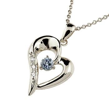 ダイヤモンド オープンハート ネックレス タンザナイト ペンダント ホワイトゴールドk18 18金 レディース チェーン 人気 12月誕生石 ダイヤ 宝石 送料無料