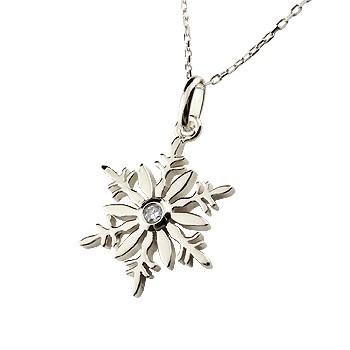 雪の結晶 ネックレス ダイヤモンド プラチナ ペンダント ダイヤ スノーモチーフ レディース チェーン 人気 送料無料